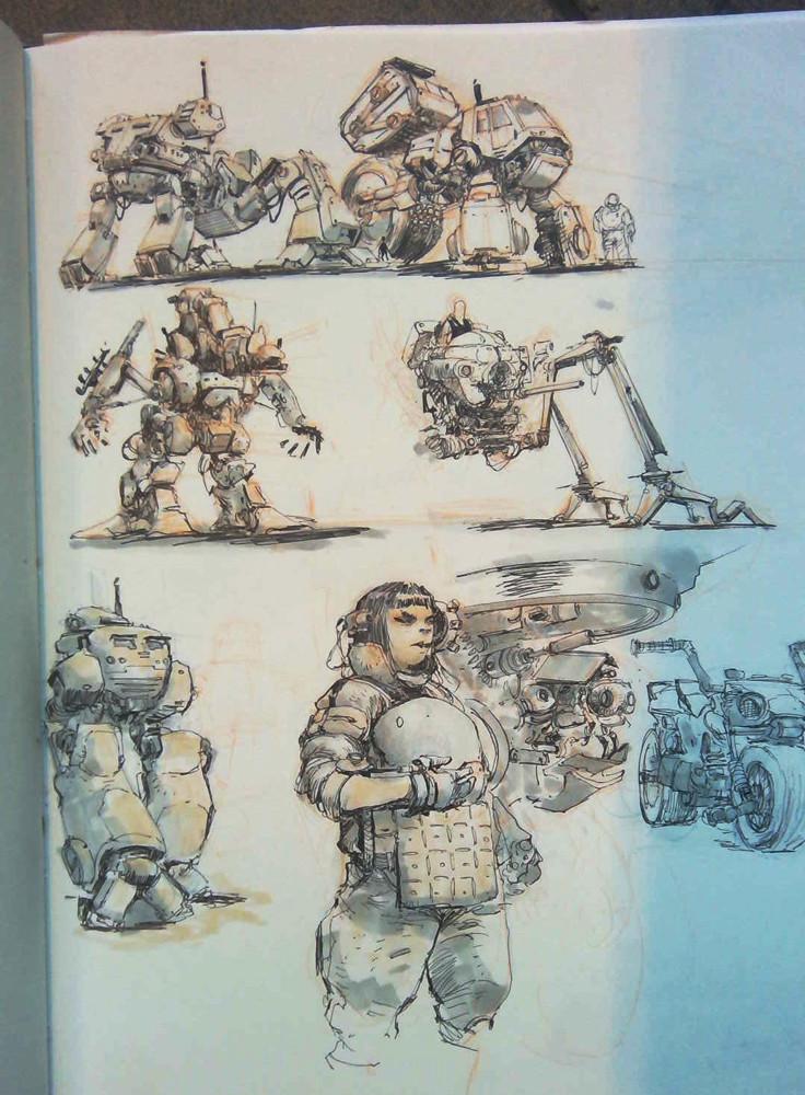 Sengkry chhour mech sketch