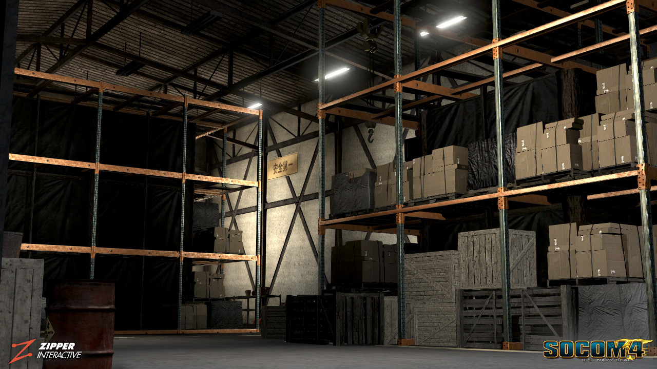 Responsible for architecture, world building, and the modeling/ texturing of multiple warehouses featured in this level, both interior, exterior, and destruction states. I have also made the modular shelving and propping.