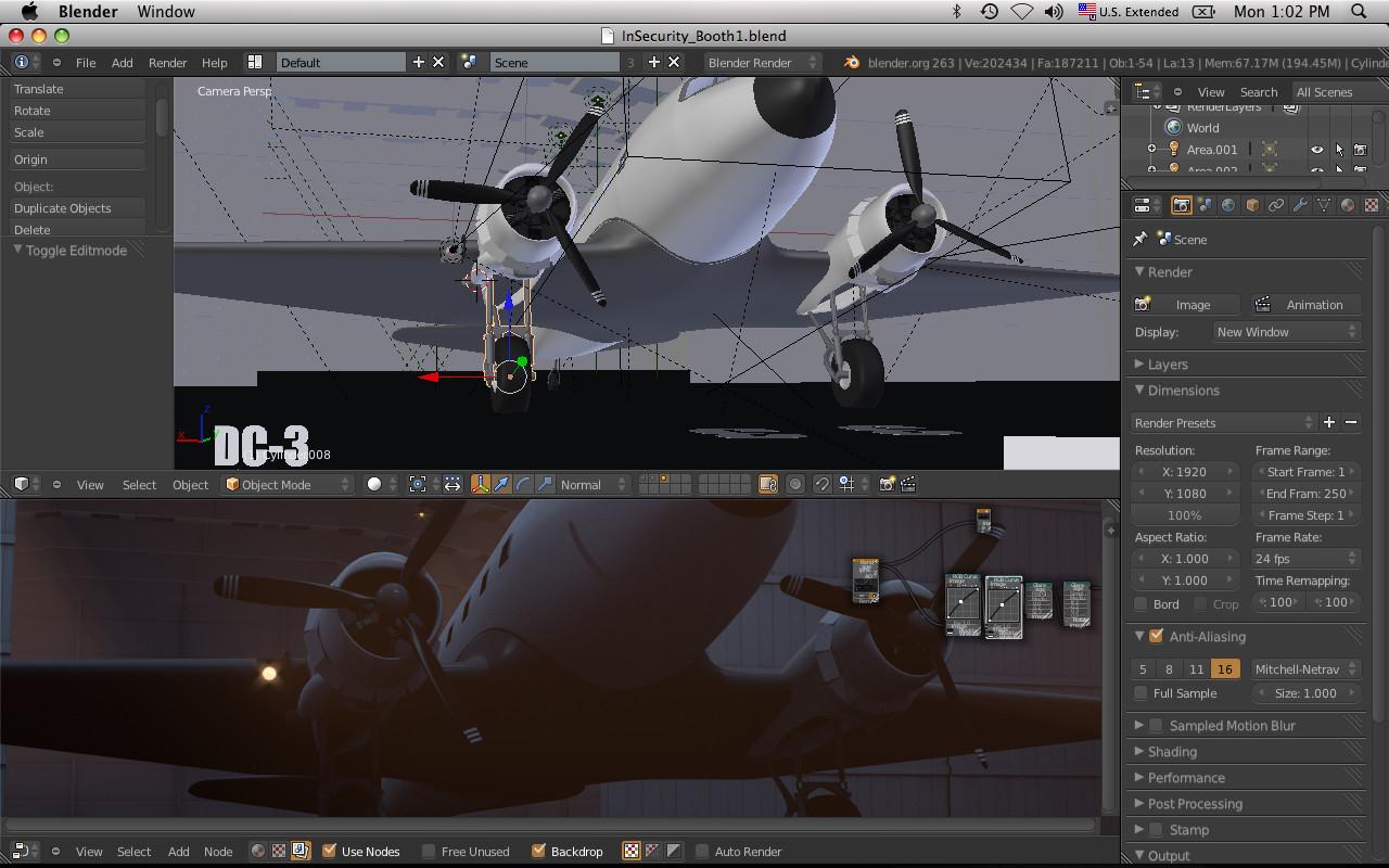Placing the model in scene