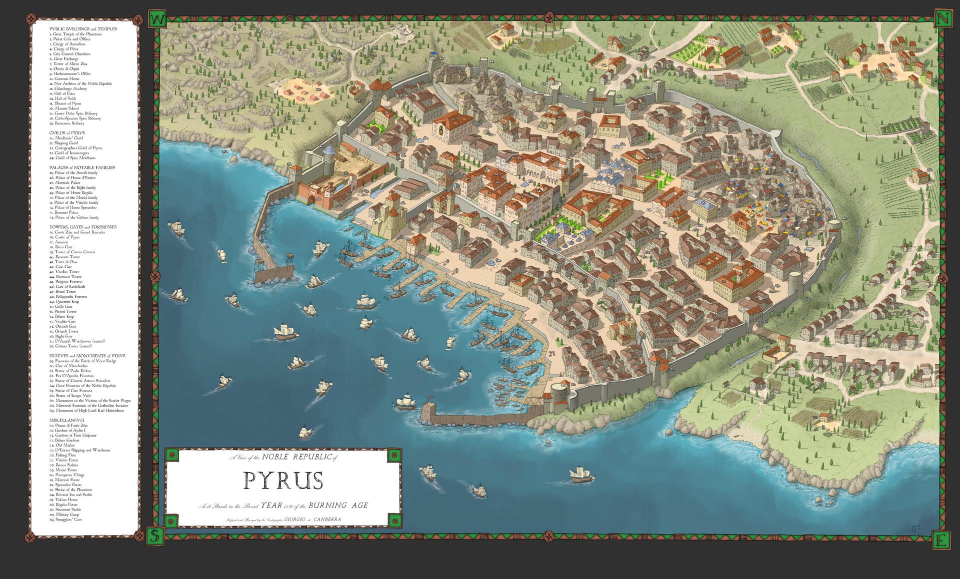 ArtStation - City of Pyrus, George Langridge Gould
