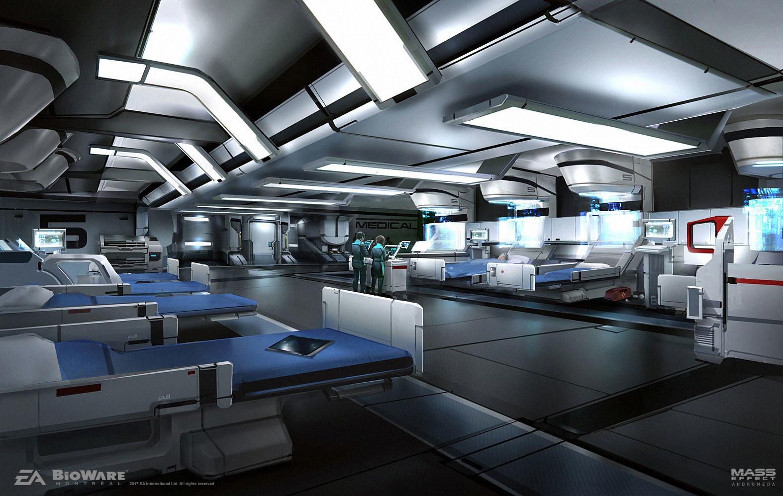 Artstation Mass Effect Andromeda Hyperion Med Bay Ben Lo