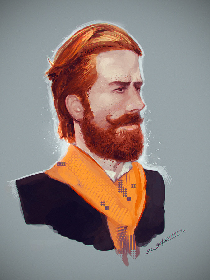 Male portrait Study