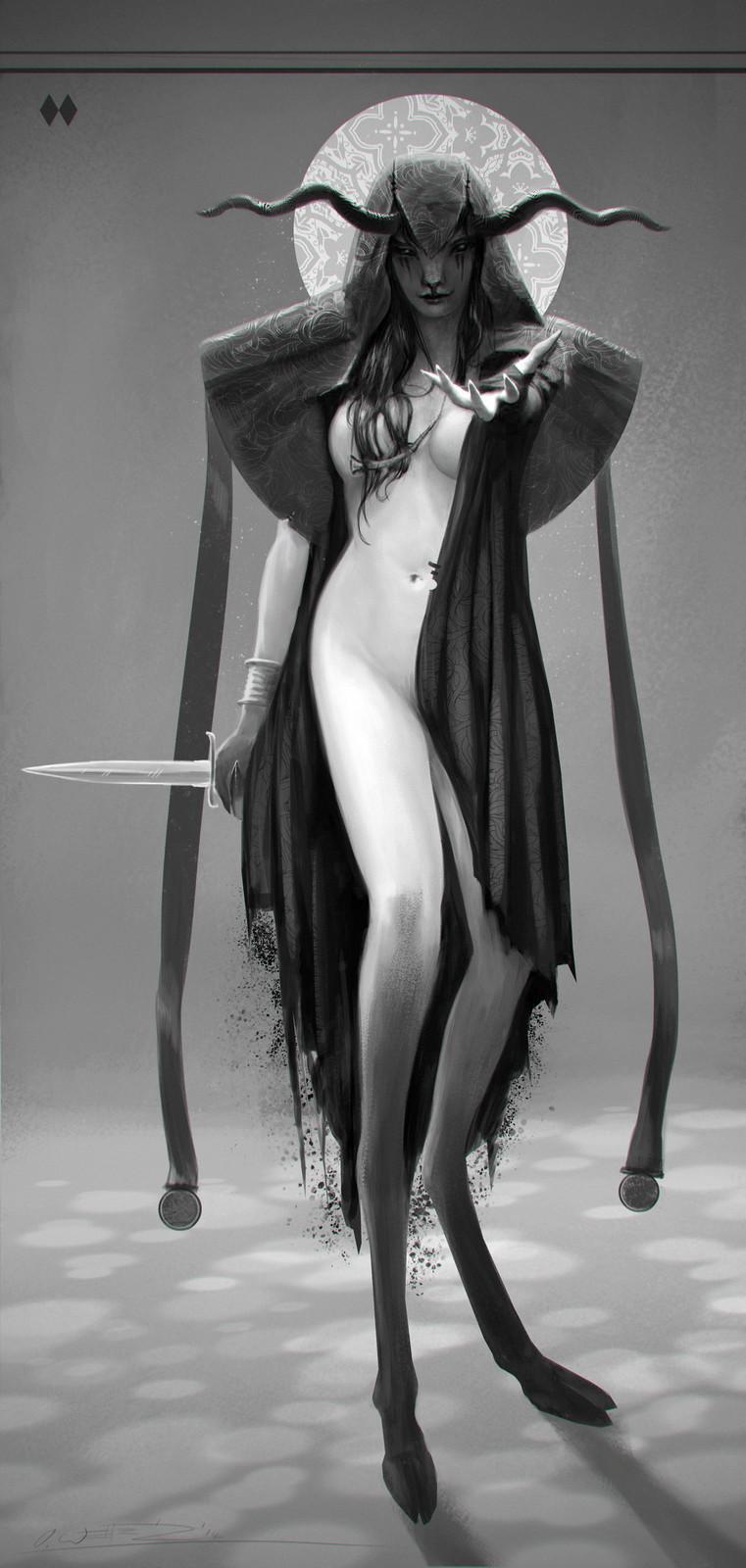 Dark Faun Mage Character Concept