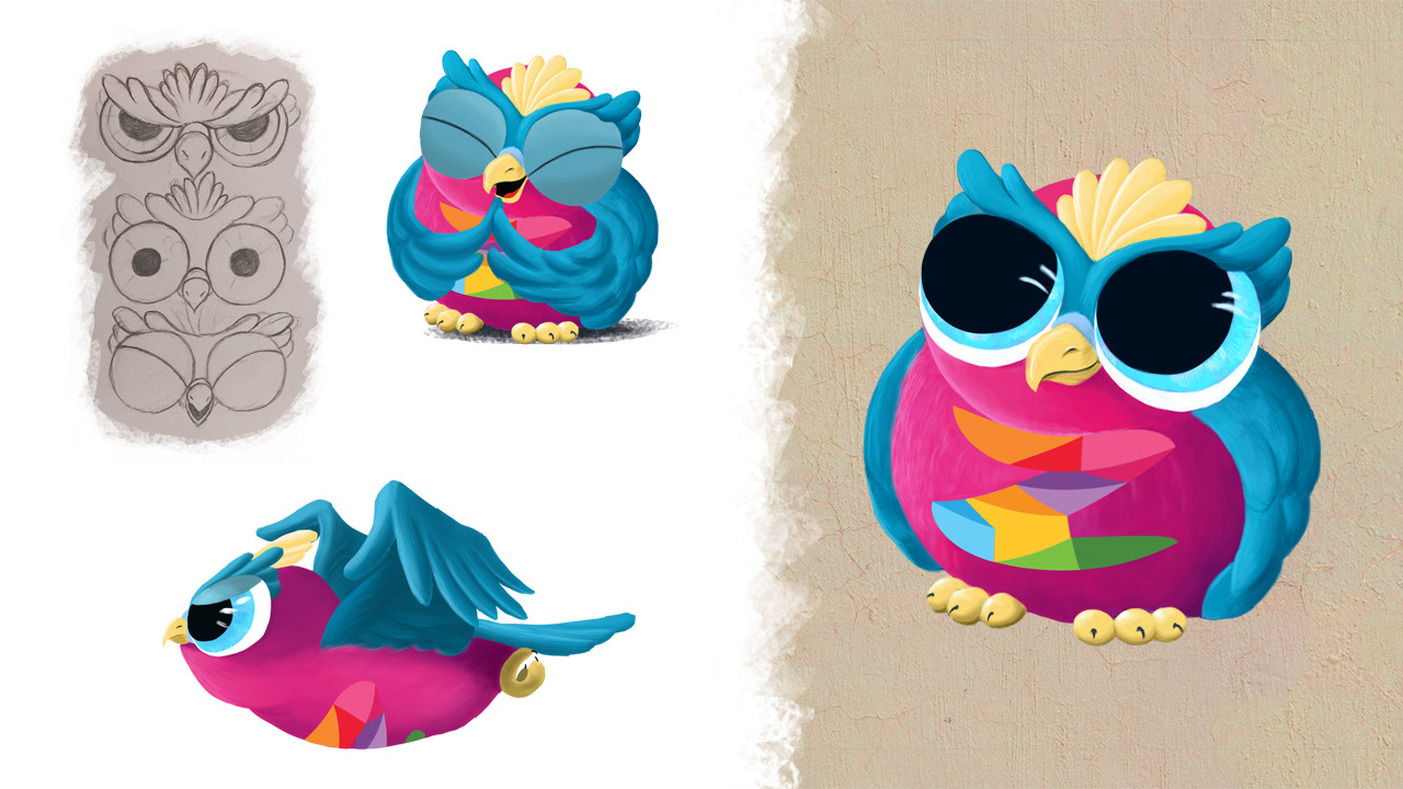 DigitalKidZ Imagination board game character design - Owl