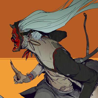 Hugo richard demon pose