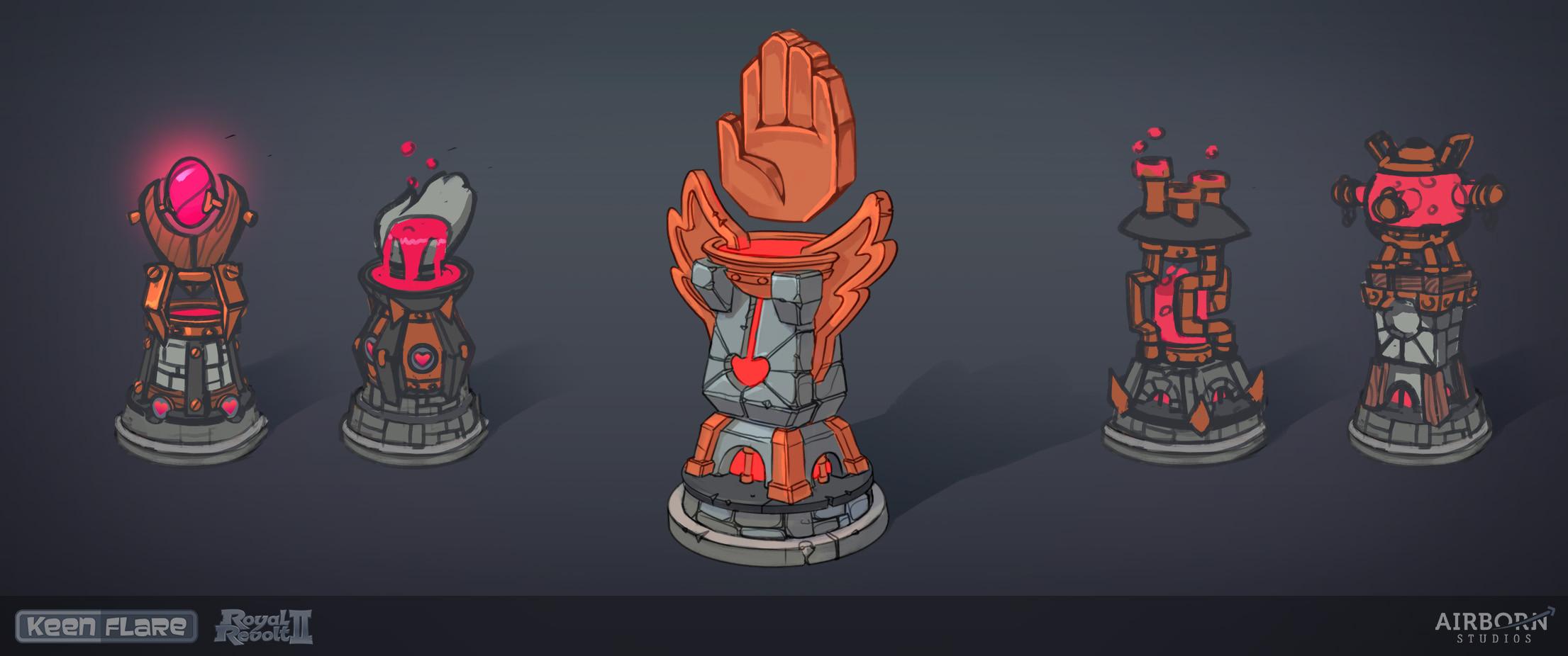 Royal Revolt 2: Heal Tower sketches  Dominik Gröstlinger