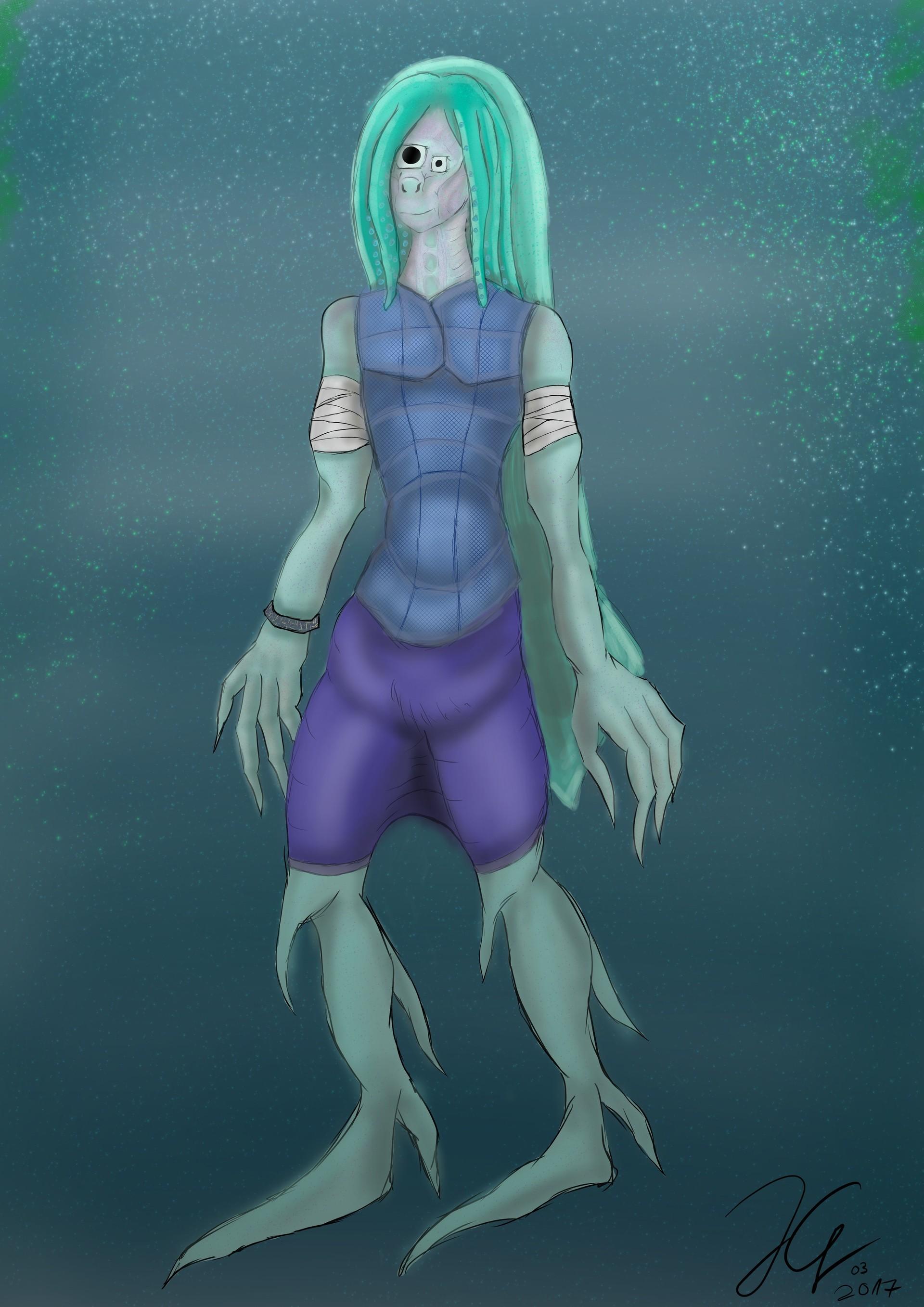 Julian granke humanoid squid conzept