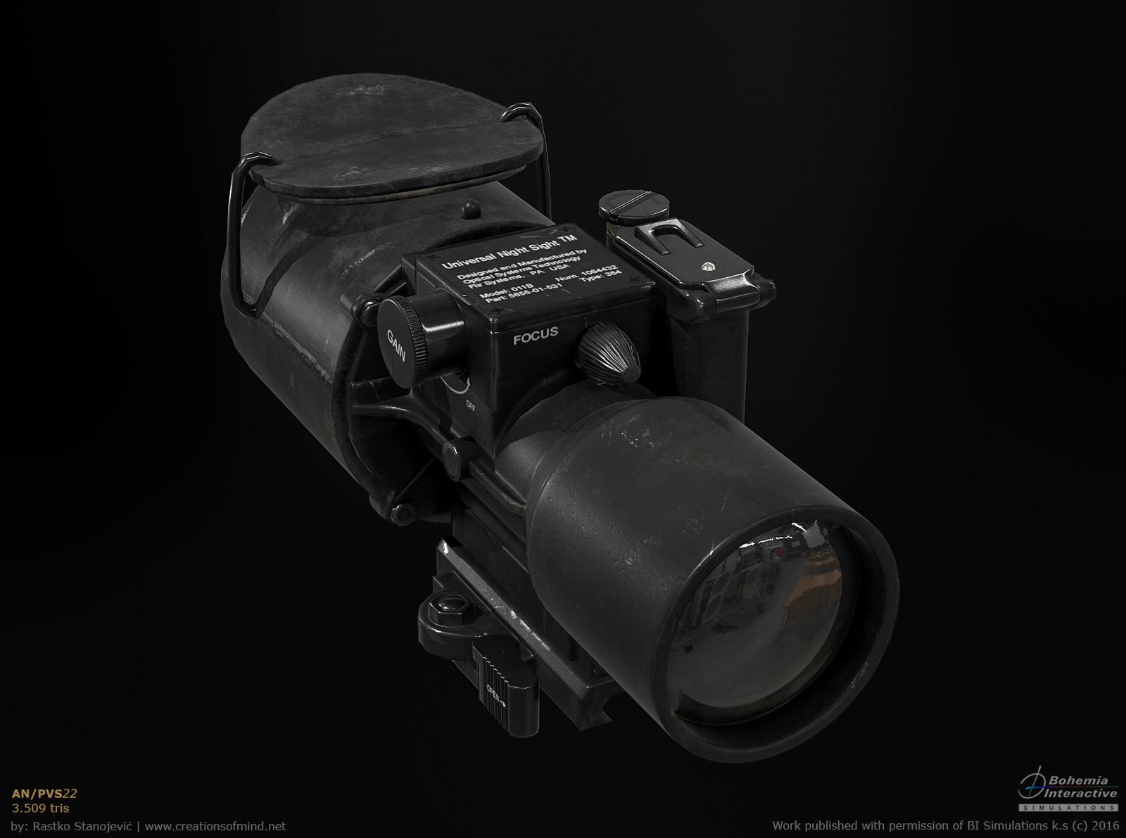 AN/PVS-22 real time render | 3.509 tris
