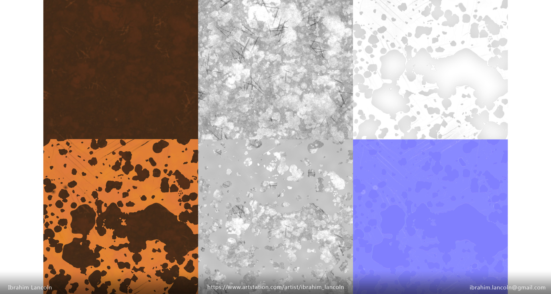 Rust Albedo | Rust Roughness | Metal Paint AO | MP Albedo | MP Roughness | MP Normal