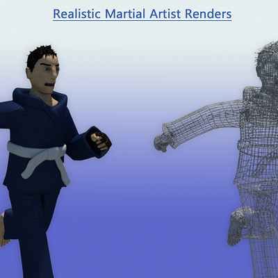 James skinner realistic martial artist renders