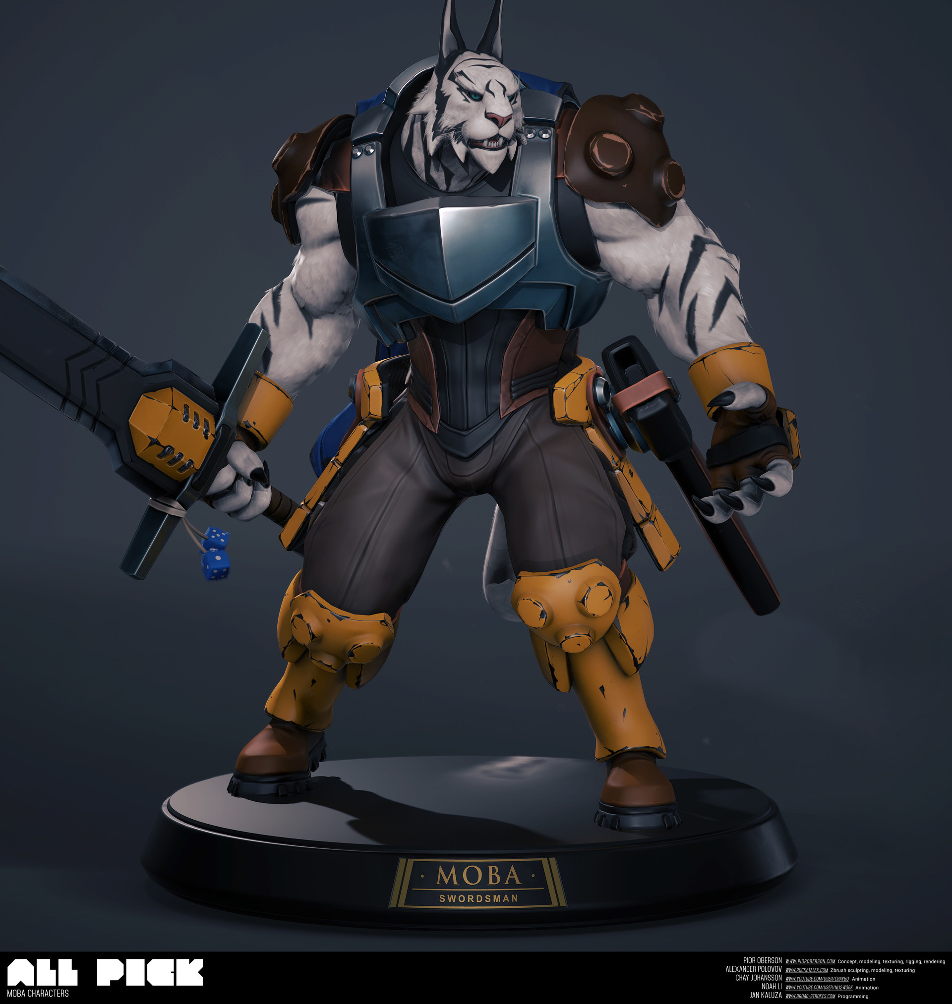 ArtStation - MOBA Swordsman character for UE4 and Unity