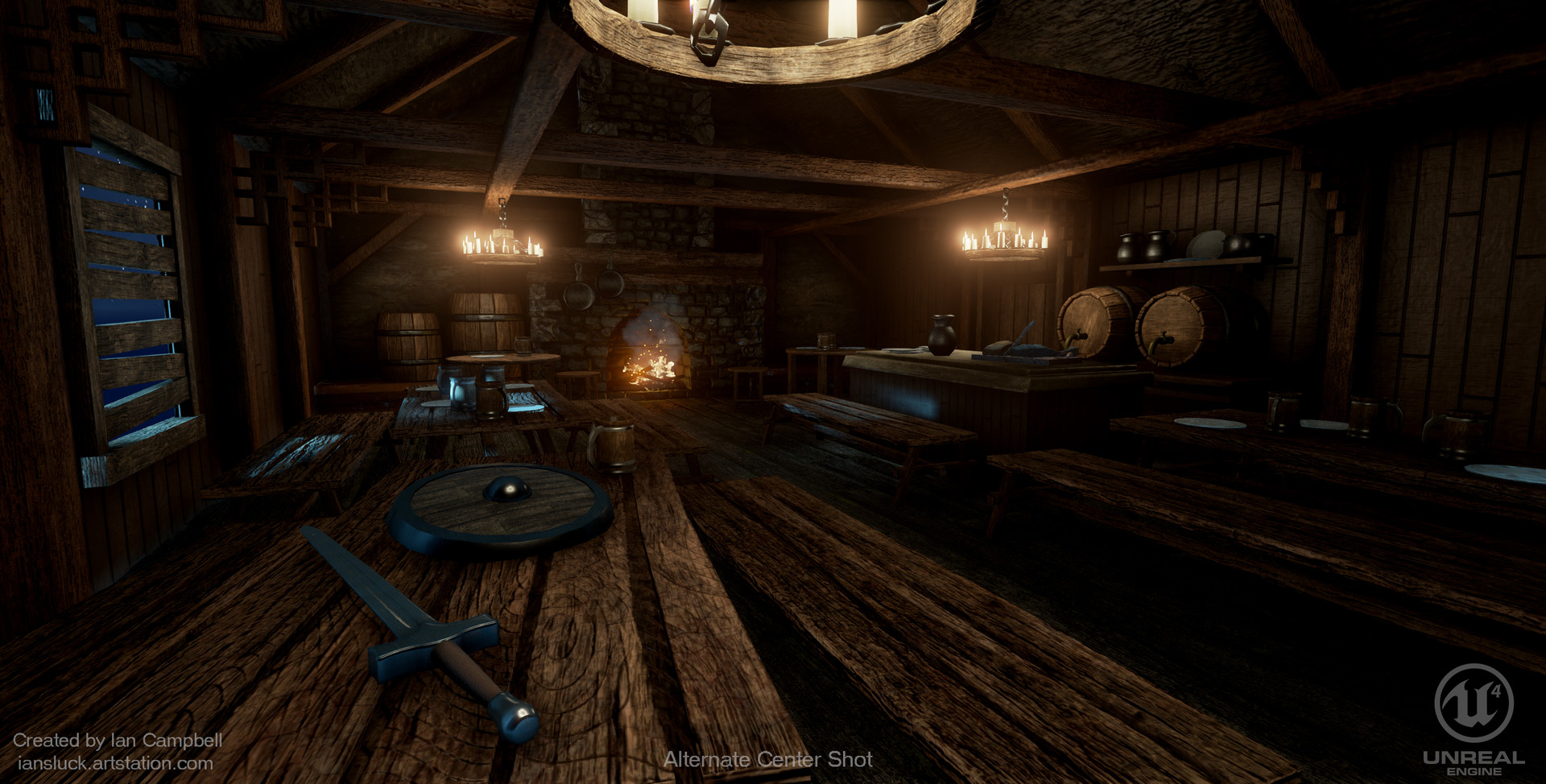 Ian Campbell Fantasy Tavern Ue4 Environment Scene