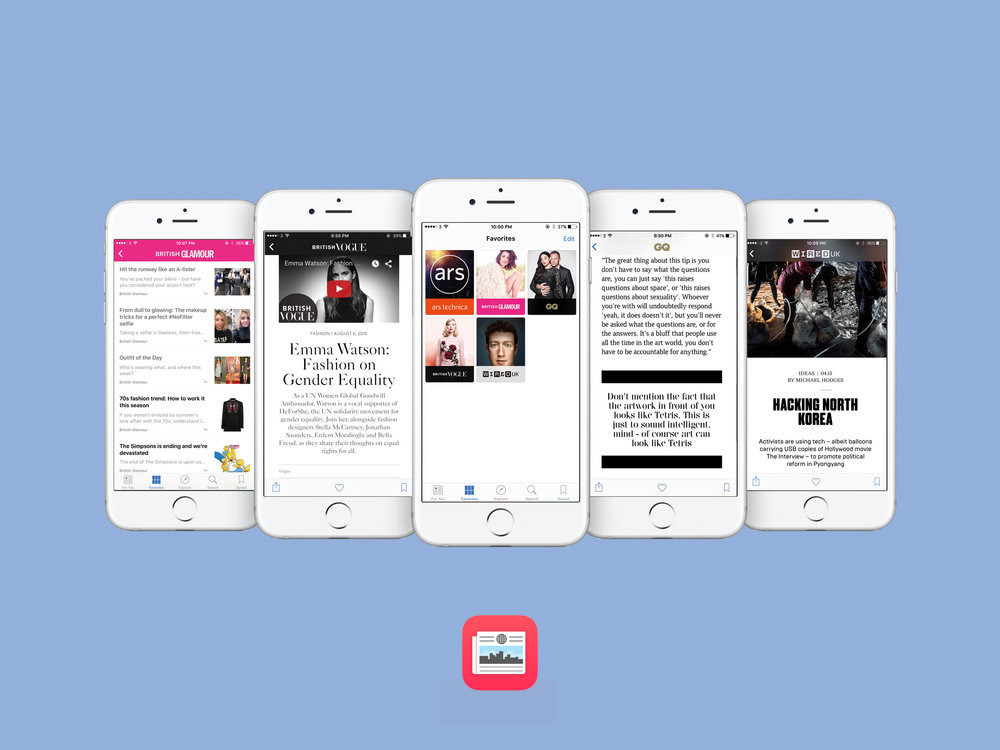 Apple News Platform - Launch partner with Vogue, GQ, WIRED, Glamour and Ars Technica.