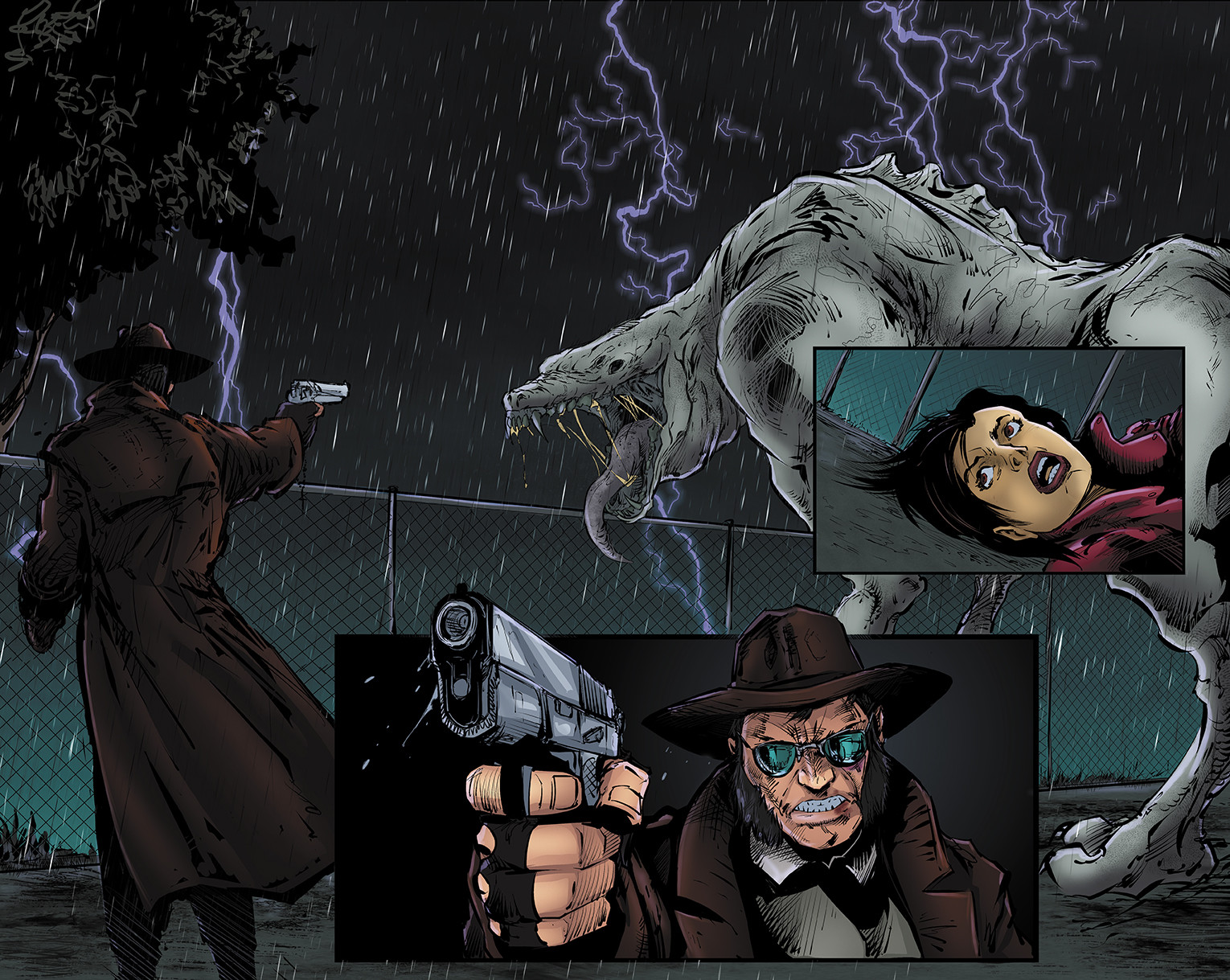 Bullets and Angels Issue 2 pages 2-3