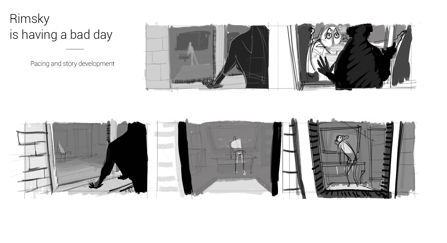 Visual Development and story planning for the project
