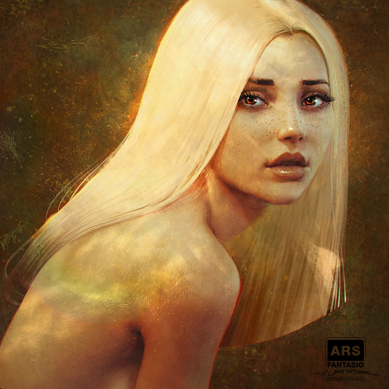 Autumn - Lighting Portrait Study (Digital Impressionism)