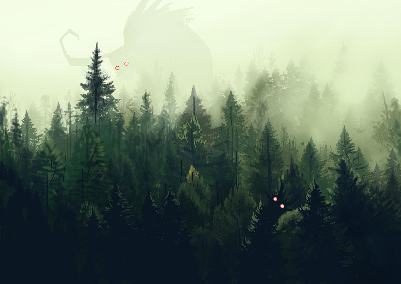 ArtStation - Dark forest, Edin Durmisevic