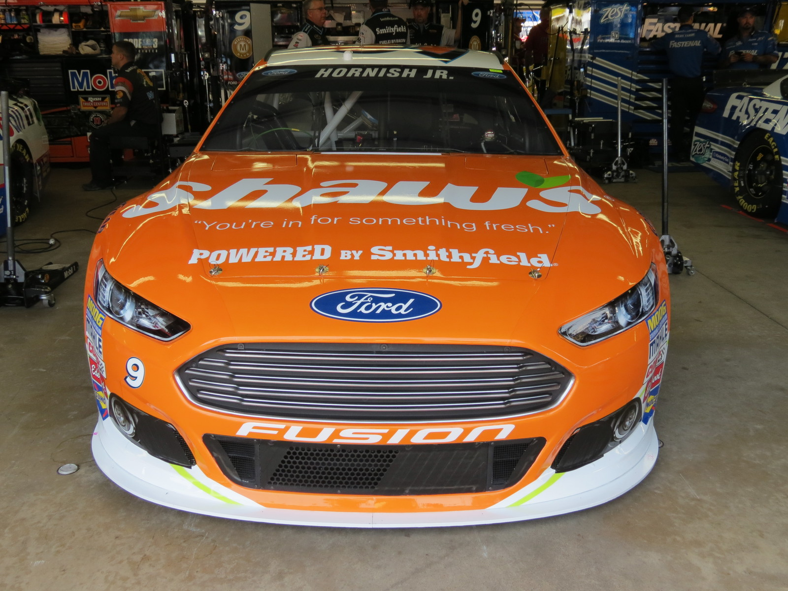 The #9 Shaw's Supermarkets Ford Fusion awaiting first practice at New Hampshire Motor Speedway on July 17th, 2015.