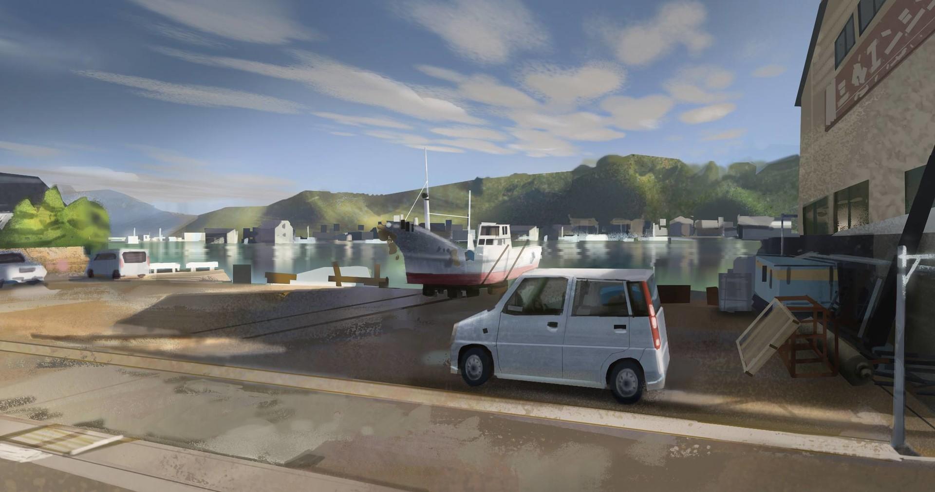 Japan - Fukuoka region virtual plein air study (+process)