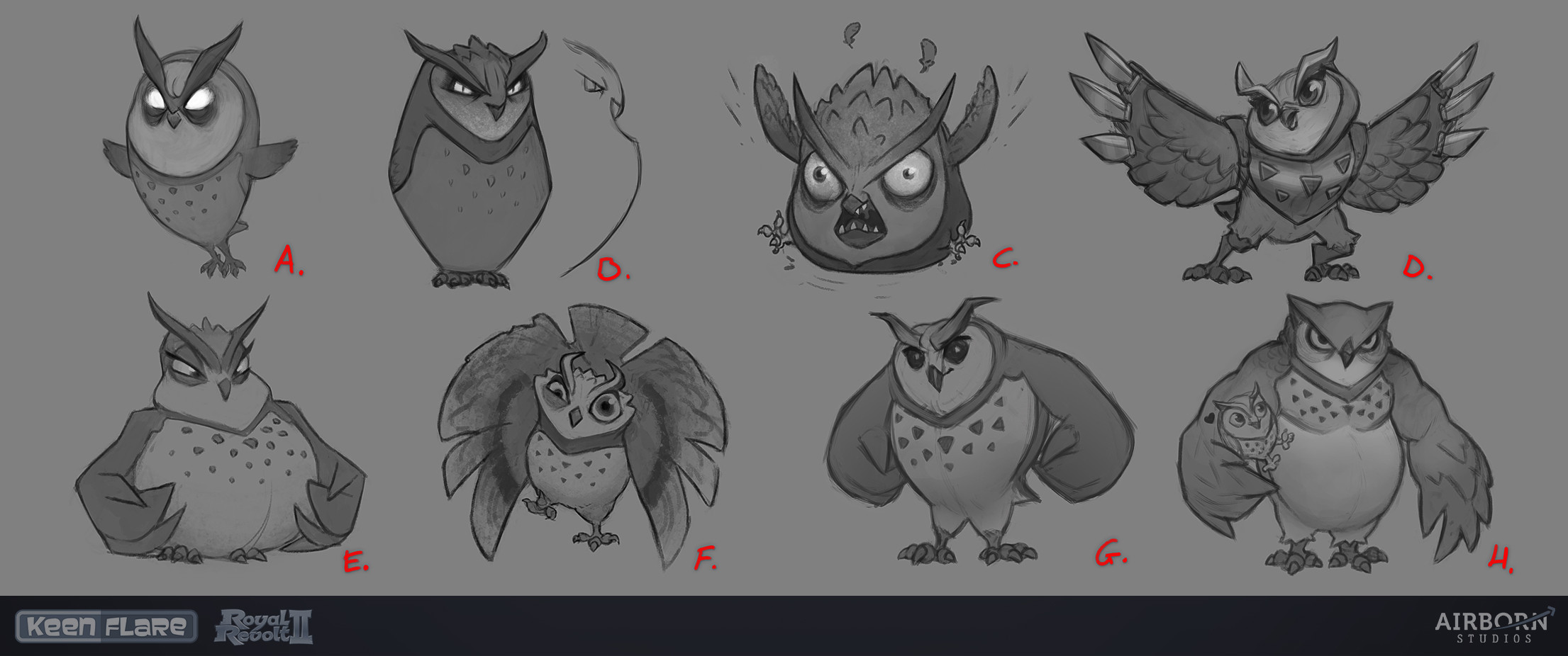 Royal Revolt 2: Twisted Archimedes sketches by Mario Manzanares