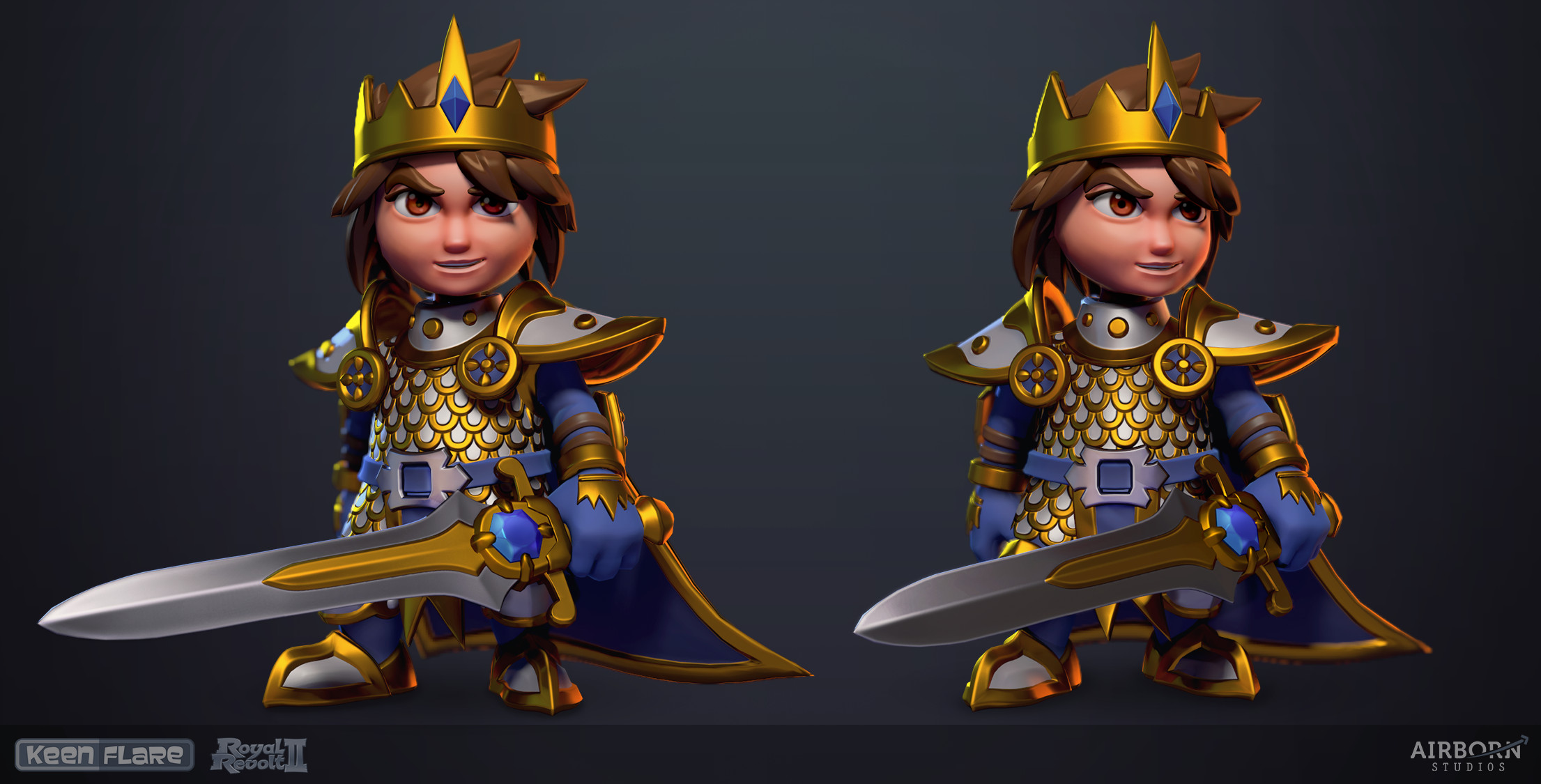 Royal Revolt 2: Hero final model by Tim Moreels 
