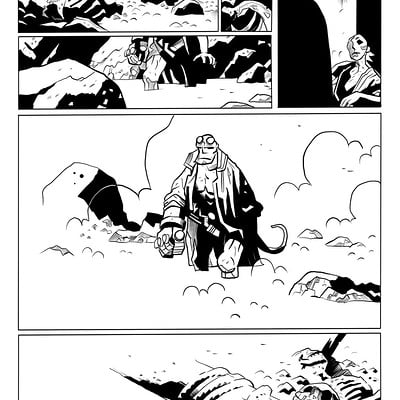 Matt james hellboy the island sample page 4 of 5 by snakebitartstudio db4uqa4