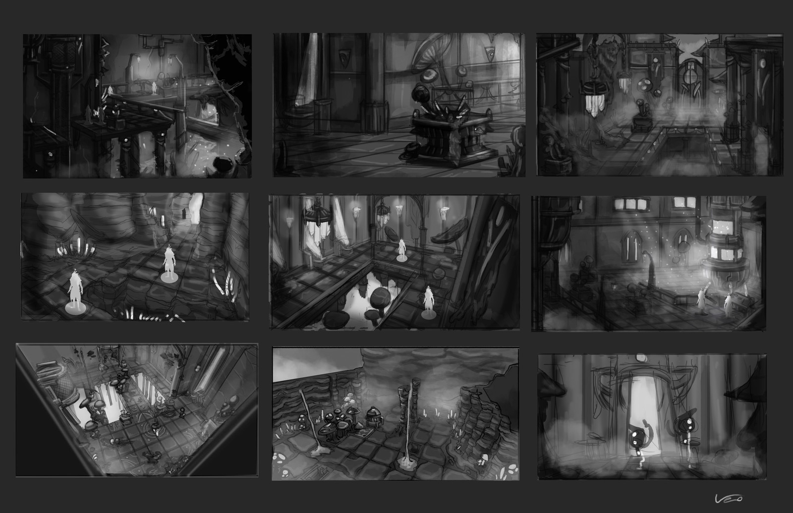 Thumbnails A part of the voted thumbnails. The two illustration were chosen from this serie.