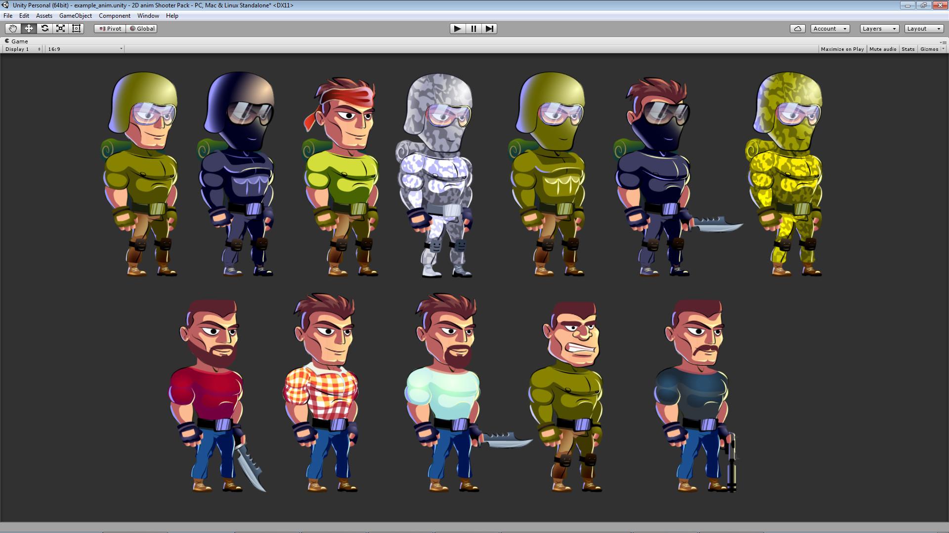 ArtStation - Asset 2D Run & Gun anim Character Pack, igor