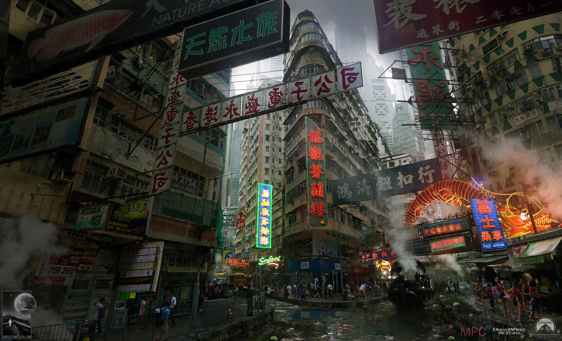 Ghost In The Shell Concept Art By Chris Kesler Imaginarycityscapes