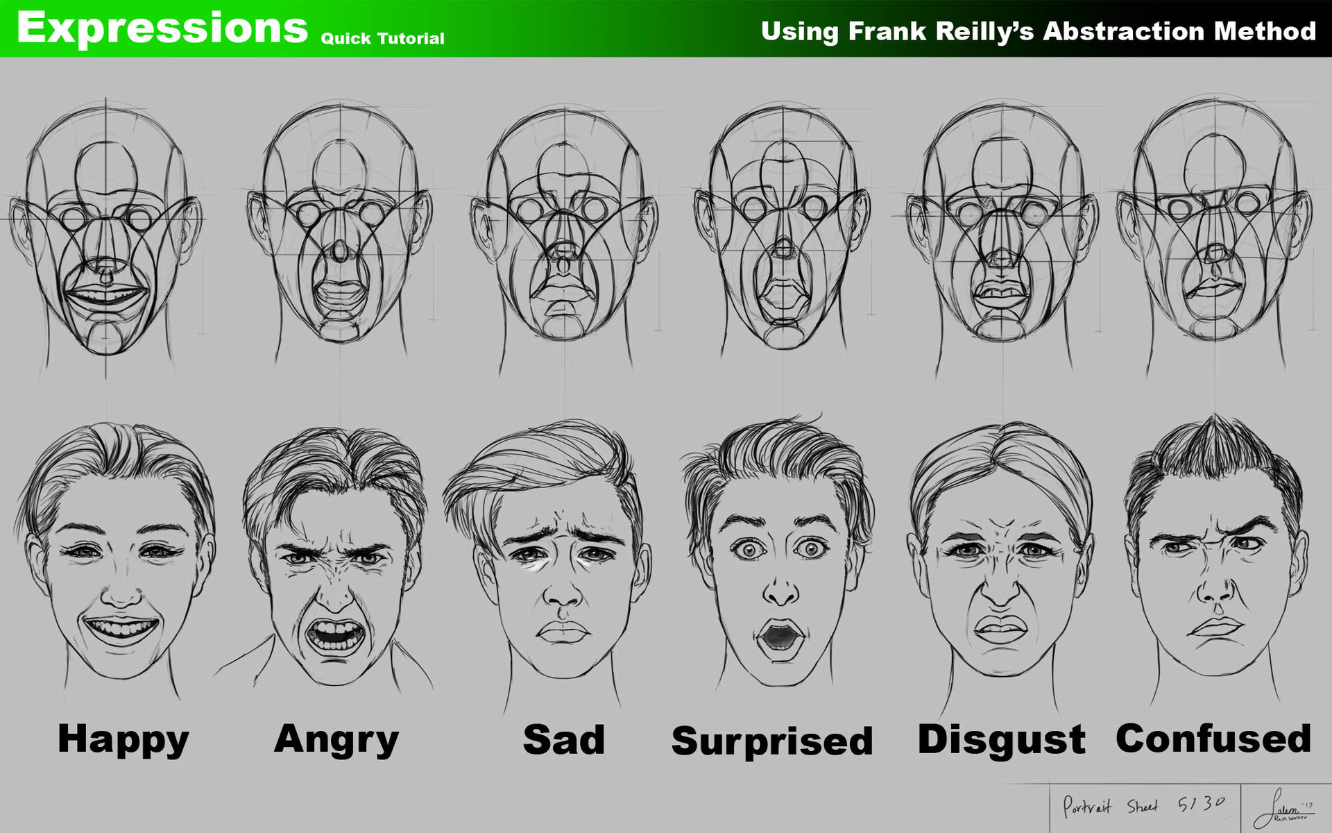 Artstation Using Frank Reilly S Method To Draw Facial Expressions Salem Shanouha