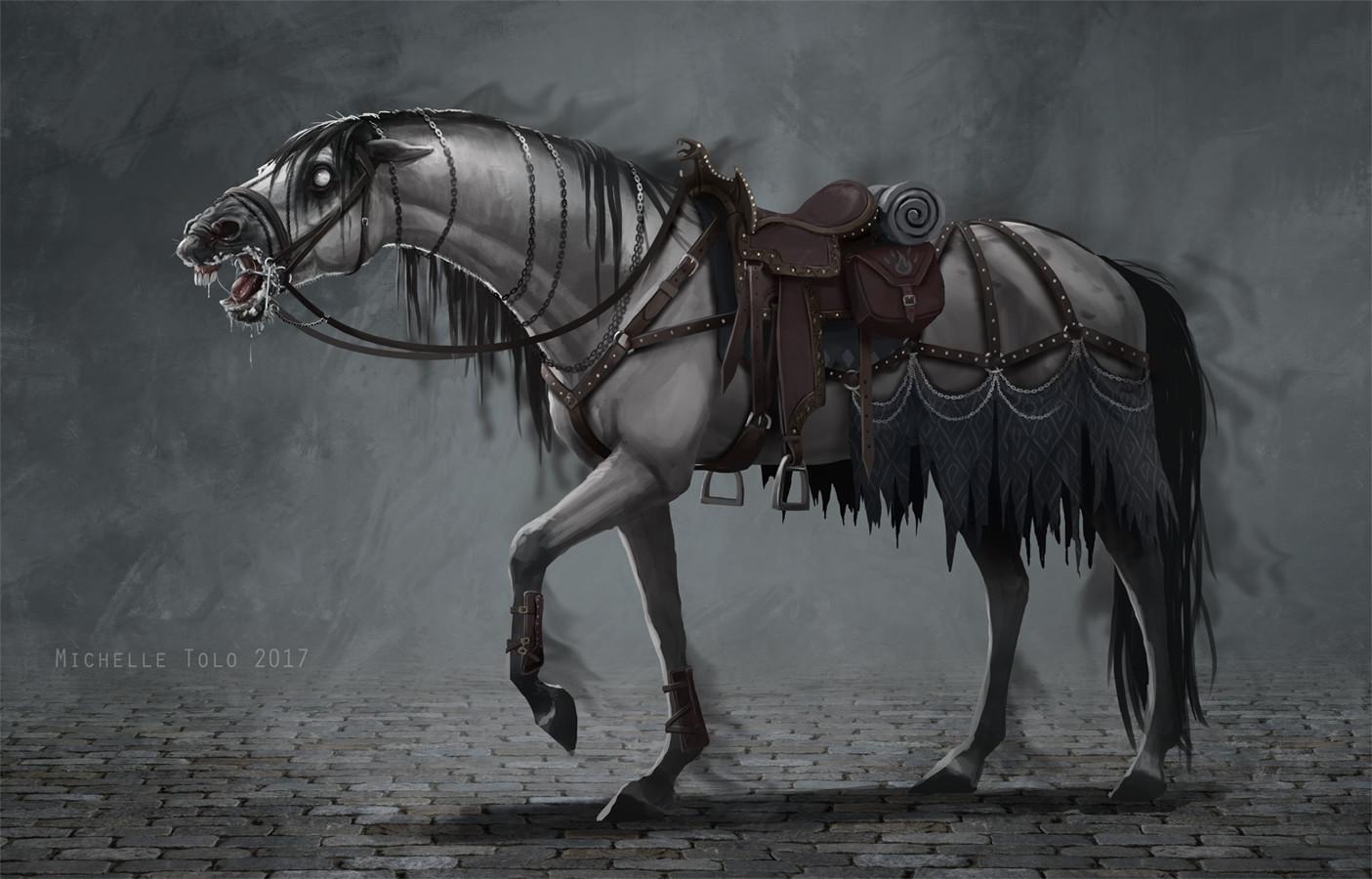 Nightmare saddled