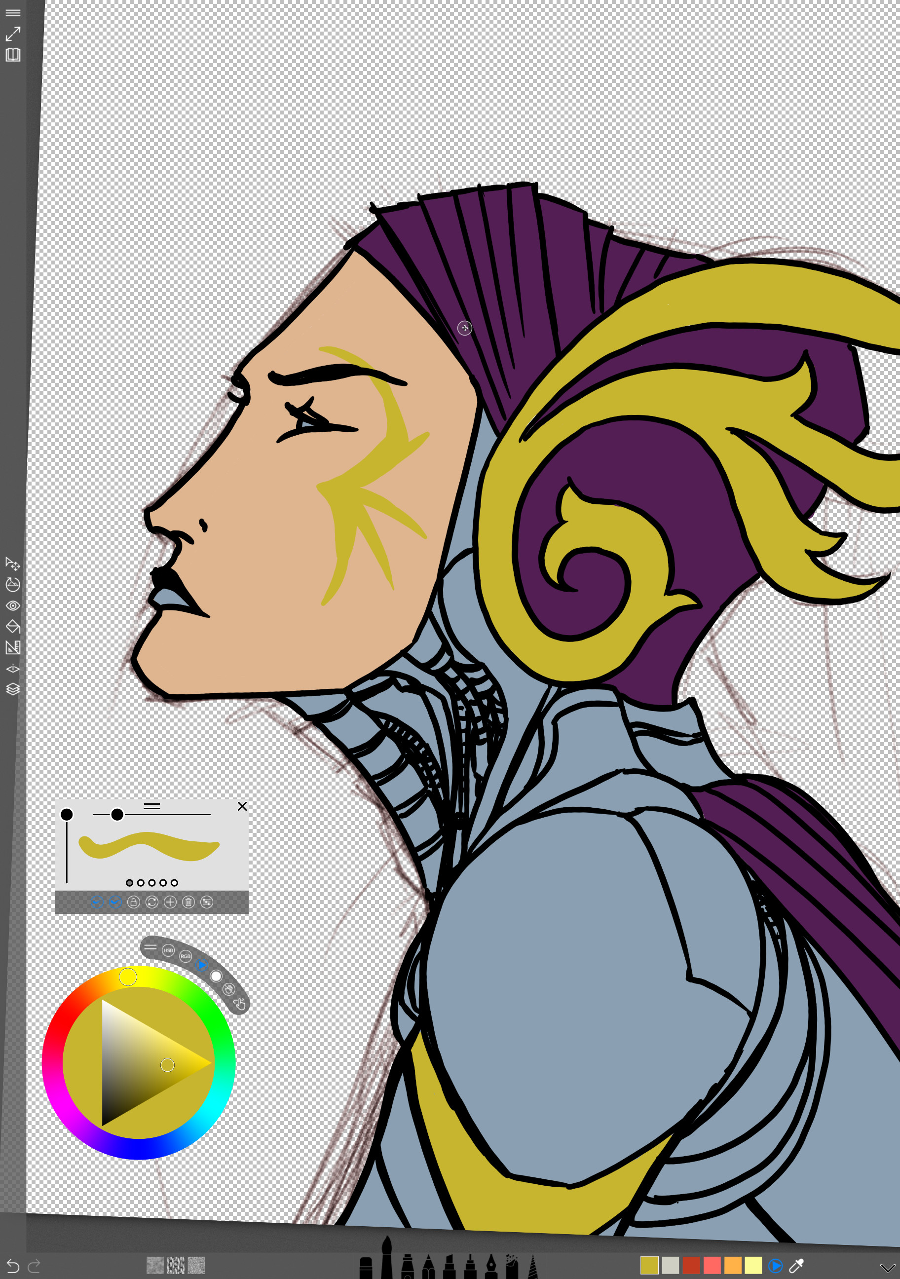 03 - Painting the base color flat
