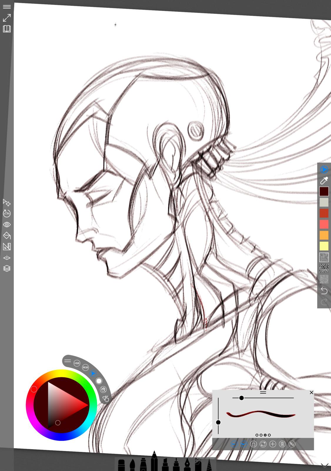 01 - Pencil concept rough sketch