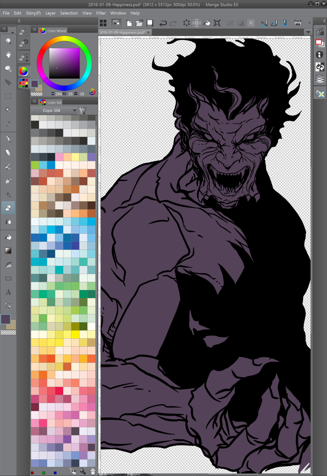 03 - Painting the base color tone