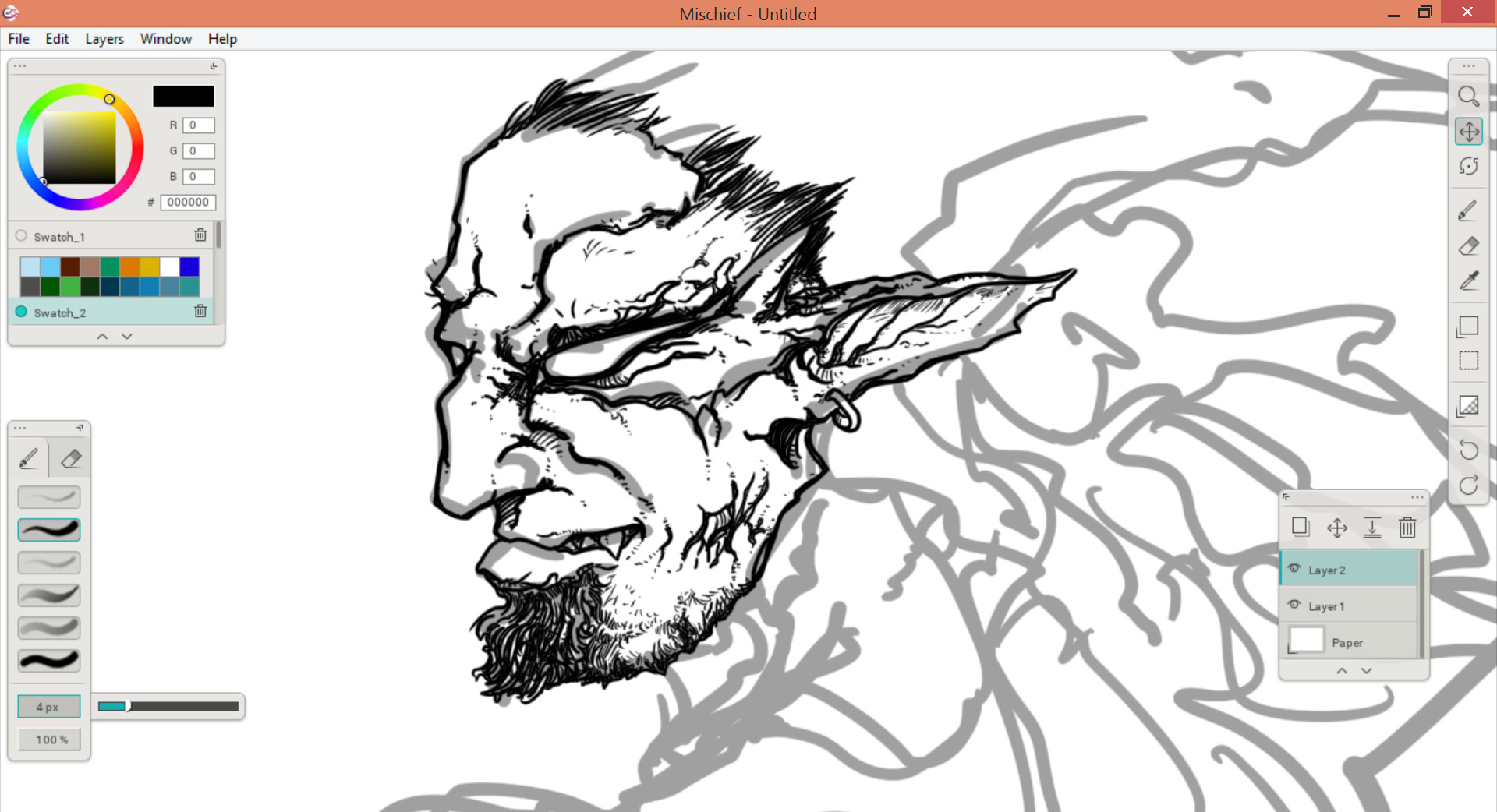 02 - Inking the face
