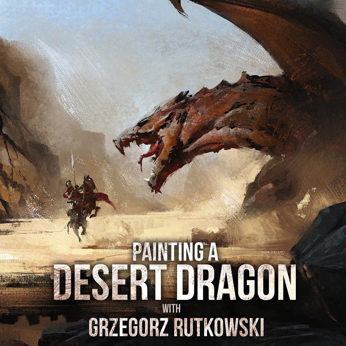Greg rutkowski desert dragon cover