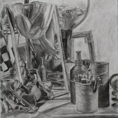 Clint bone stilllife fall2013 charcoal