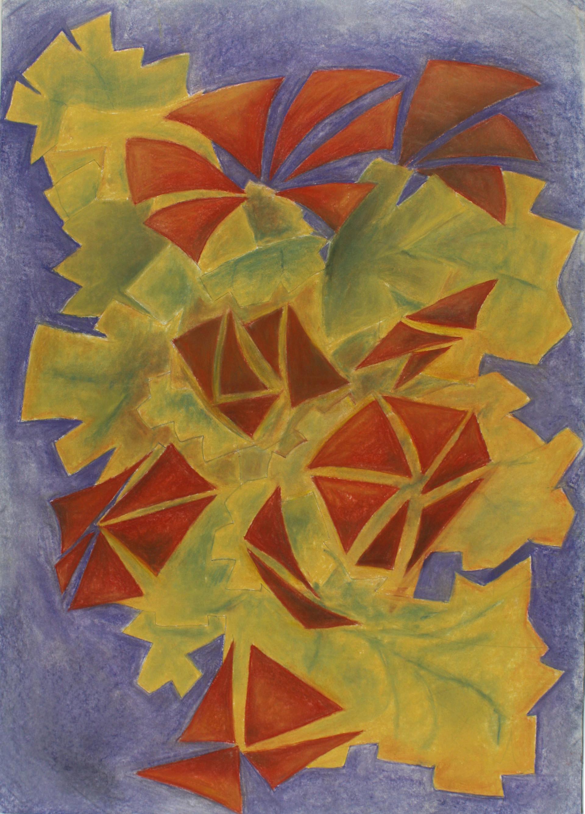 Clint bone abstractflower spr2014 chalkpastel