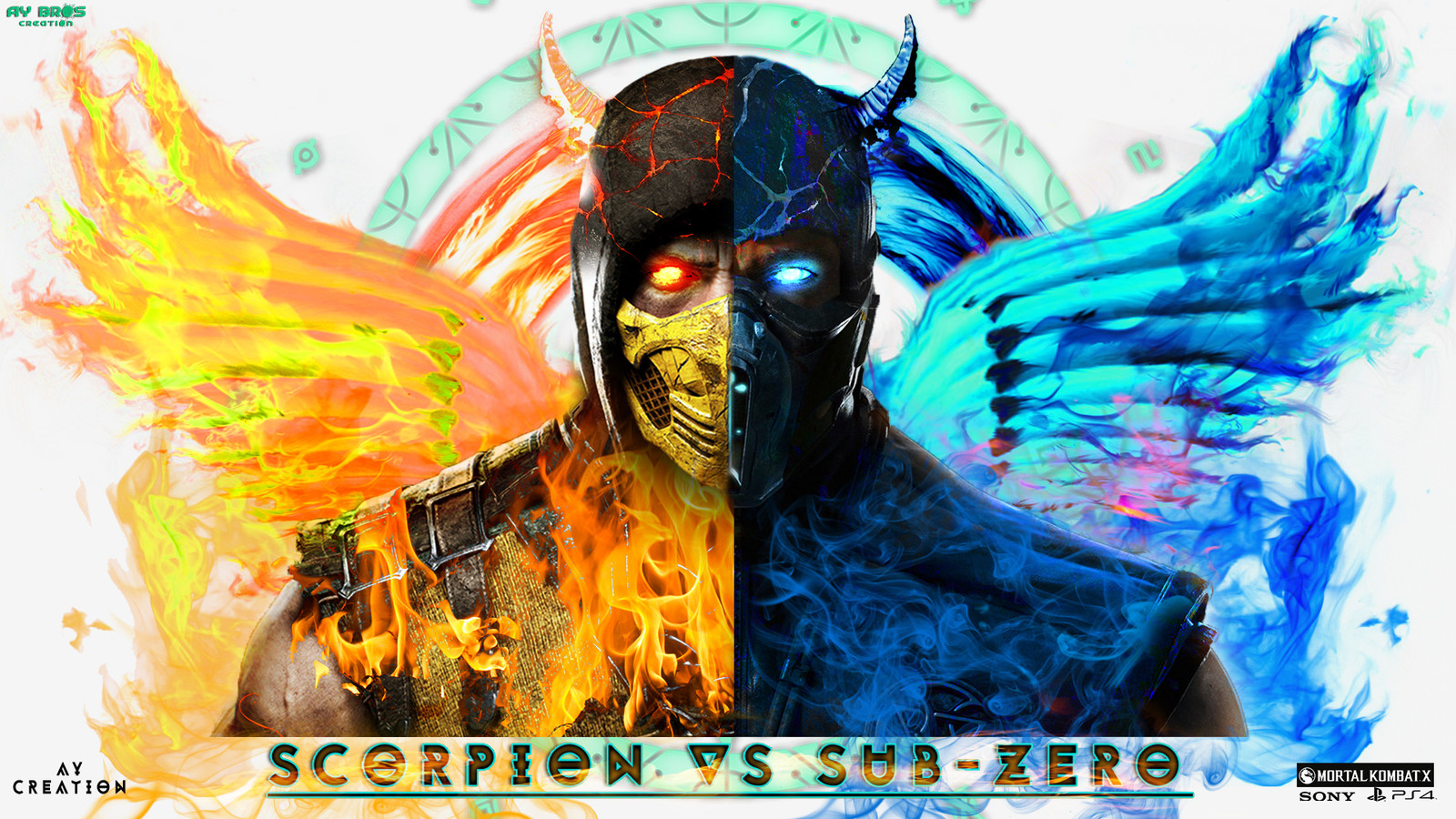 Artstation Photoshop Manipulation Scorpion Vs Sub Zero Mk X
