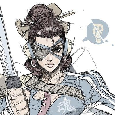 Hicham habchi katana girl
