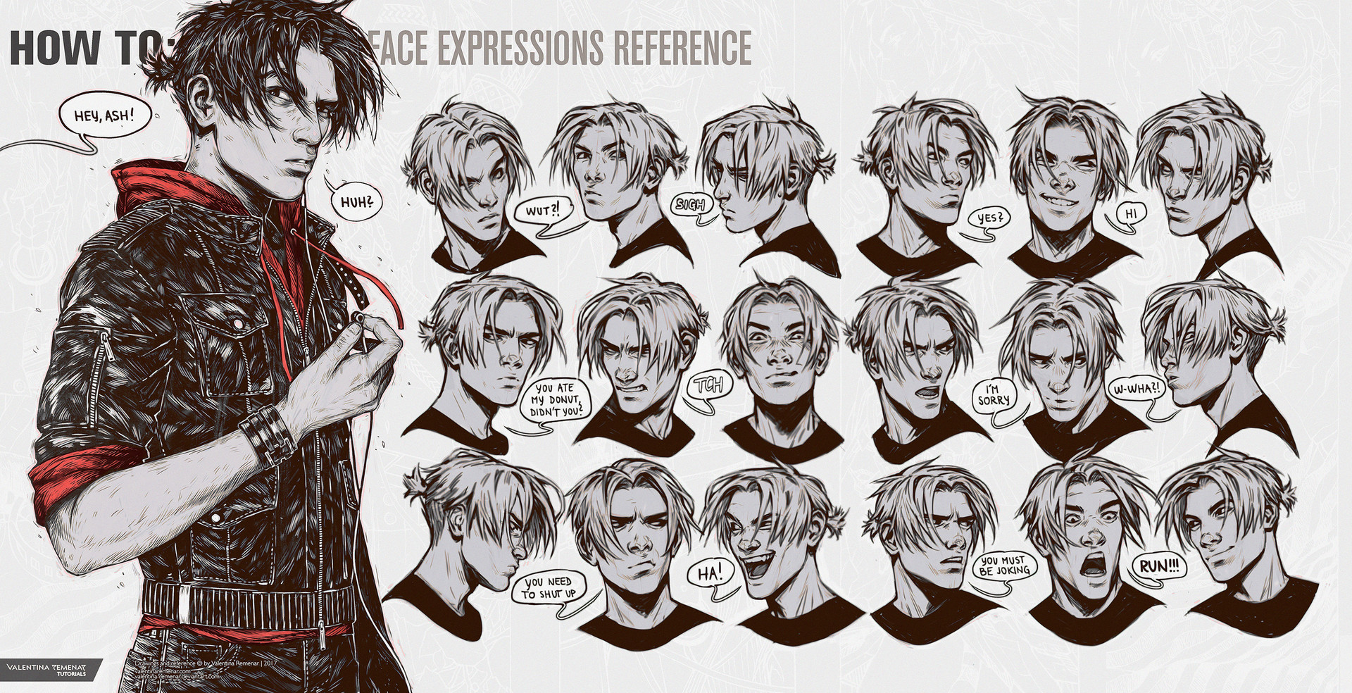 Valentina remenar how to face expressions reference by valentina remenar