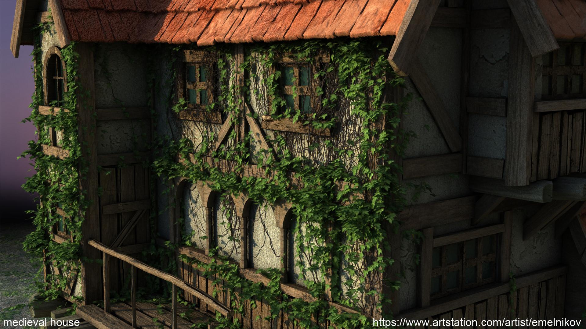 Eugene melnikov medieval house1 render frm1