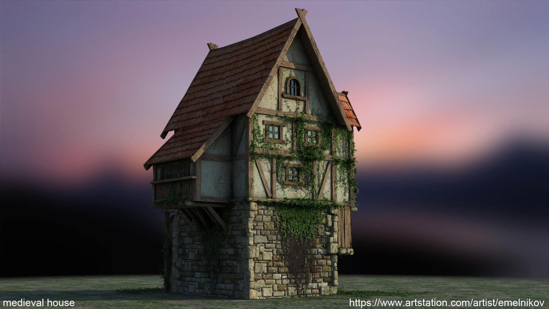 Eugene melnikov medieval house1 render frm6