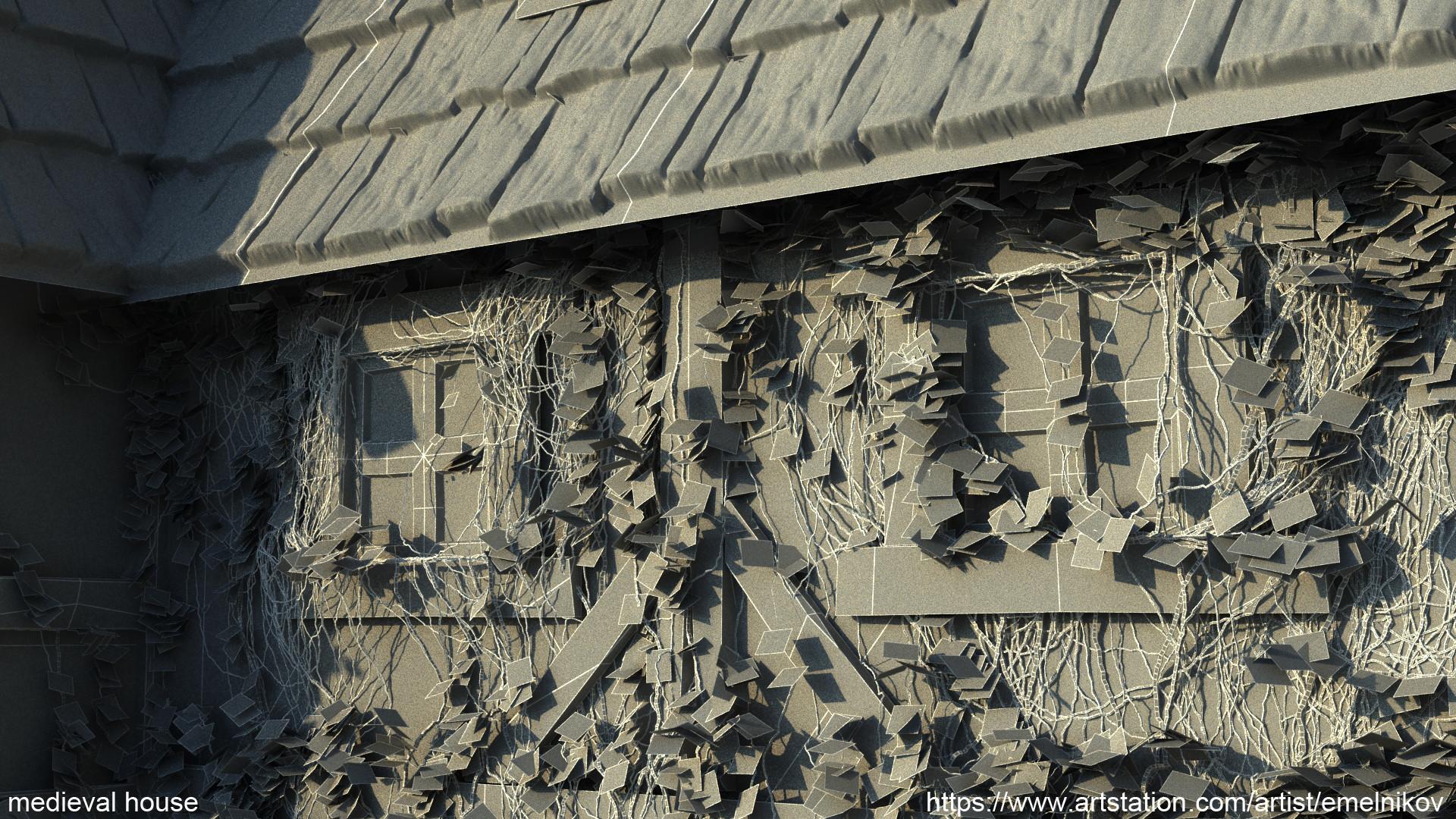 Eugene melnikov medieval house1 render frm15 wire