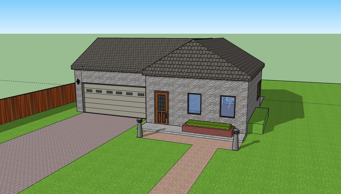 Devin Kruse Simple House 3d Model With Sketchup