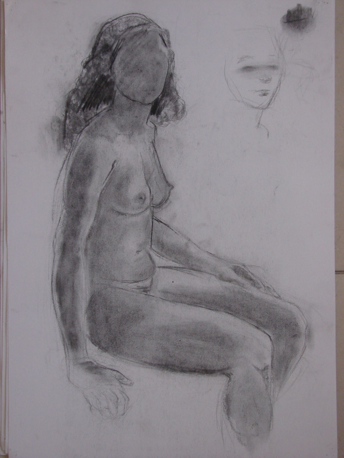 woman sitting side