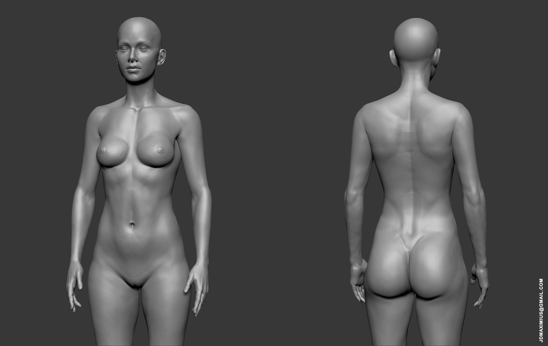 Artstation Anatomy Woman Juan Diego Lugo