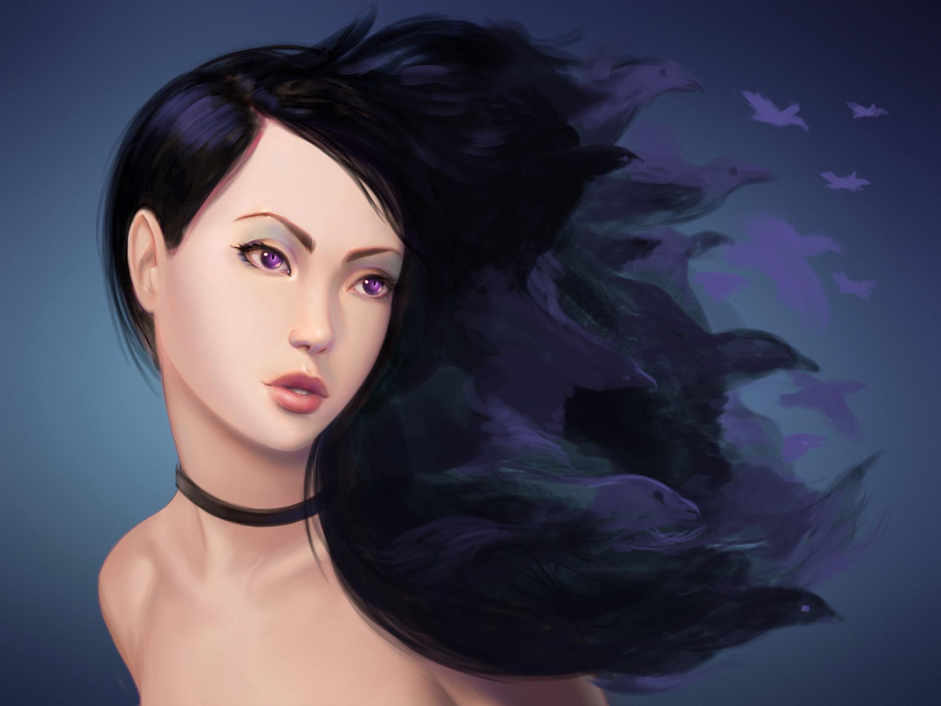 Oliver wetter raven girl 03