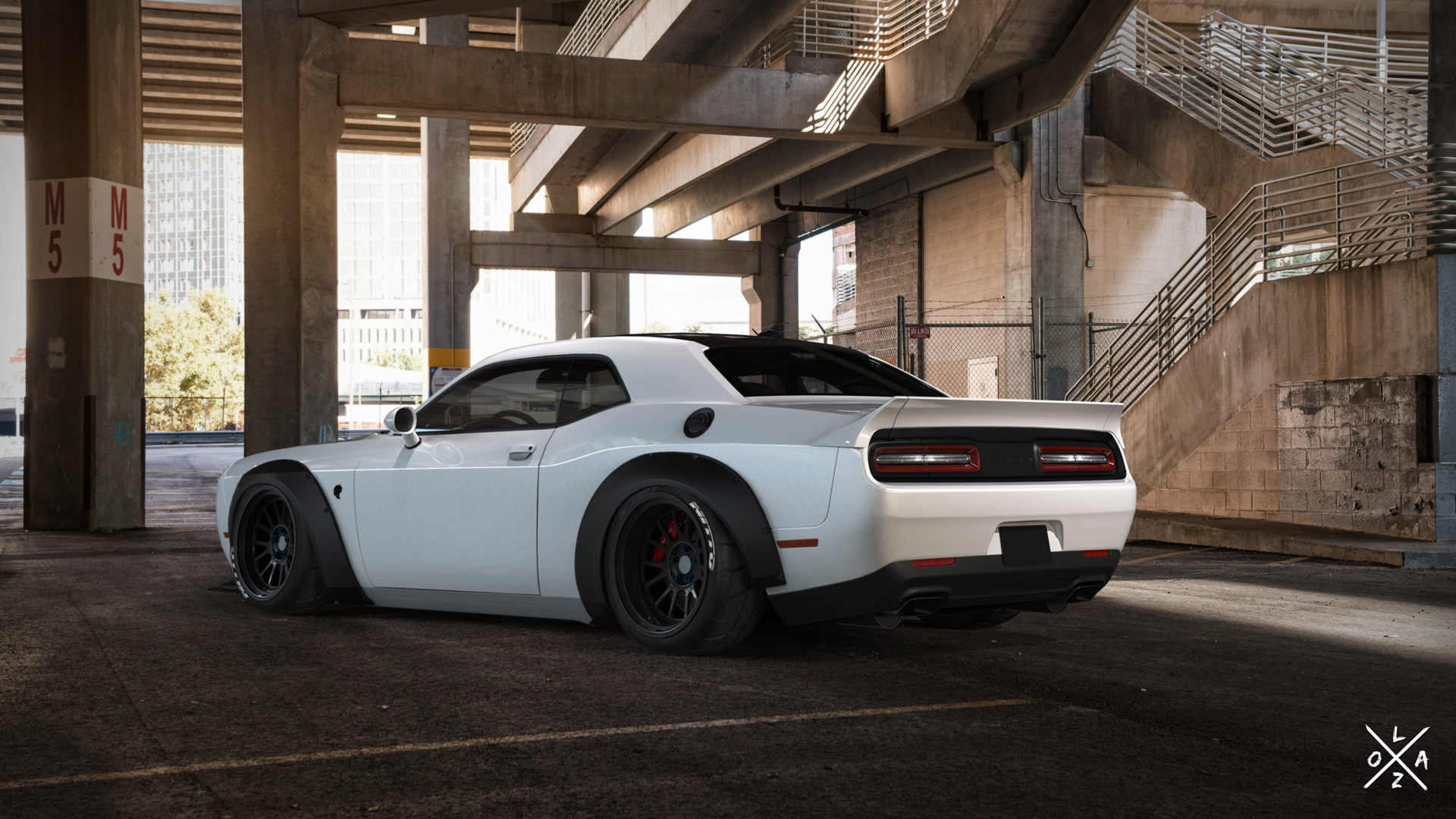 Artstation Dodge Challenger Liberty Walk Sergio Loza
