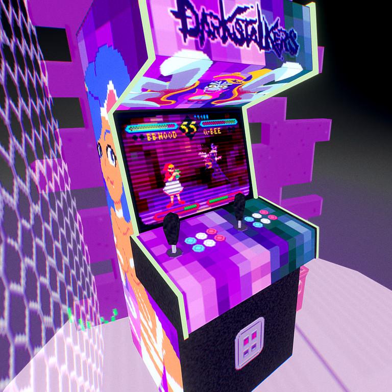 ArtStation - Darkstalkers Arcade Machine, Jesús Cárdenas